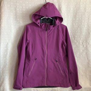 REI light Purple plum active wear hooded jacket